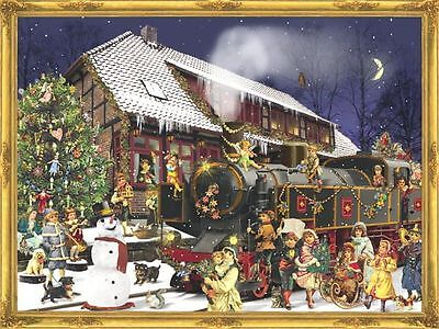 Holiday Express Victorian Christmas Train Card Advent Calendar With Envelope