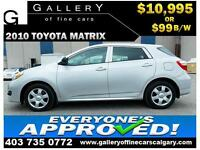 2010 Toyota Matrix AT $99 bi-weekly APPLY TODAY DRIVE TODAY