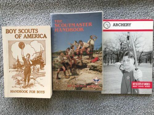 Boy Scouts Books - 1994 Handbook, 1992 Scoutmaster Handbook,1994 Archery