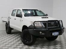 2012 Toyota Hilux KUN26R MY12 SR (4x4) White 5 Speed Manual Dual Cab Chassis Atwell Cockburn Area Preview