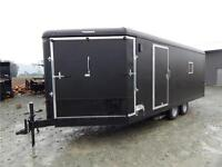 2016 22' SNOWMOBILE TRAILER 3 PLACE DRIVE IN/OUT