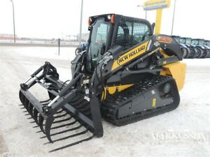 """HLA 84"""" Manure Fork with Utility Grapple for Skid Steers"""