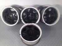 "CMS 15"" 4x100 7j alloy wheels. Deep dish. not borbet bbs, ats, lenso, hartge, tm"