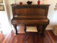 Piano and stool, £150 can deliever locally if required!