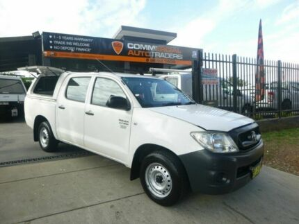 2011 Toyota Hilux TGN16R MY10 Workmate White 4 Speed Automatic Utility