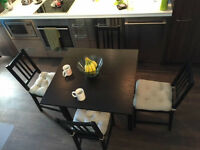Extendable Table and 4 Chairs, Dining Set IKEA AMAZING
