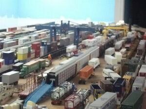 Railroad  memorabilia, trains, lights, pictures etc.