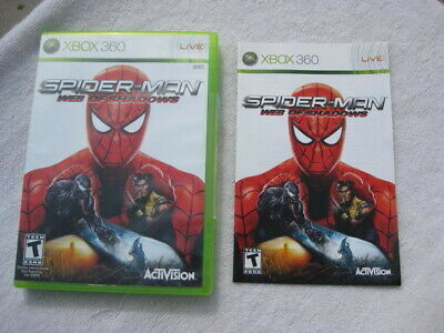 BOX ONLY NO GAME Spider-Man: Web of Shadows (Microsoft Xbox 360, 2008)