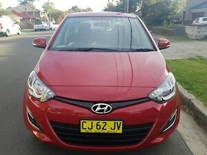 2015 Hyundai i20 PB MY14 Active Red 4 Speed Automatic Hatchback Five Dock Canada Bay Area Preview