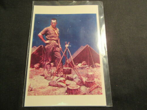 The Scoutmaster, Norman Rockwell Boy Scout Postcard     c65