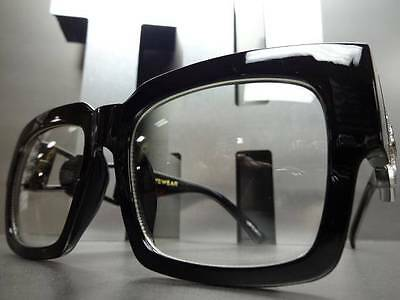 OVERSIZE VINTAGE RETRO HIP HOP SWAG NERD SMART CLUB PARTY Clear Lens EYE (Swag Glasses)