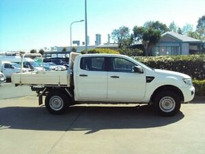 2012 Ford Ranger PX XL Double Cab 4x2 Hi-Rider Cool White 6 Speed Sports Automatic Utility Acacia Ridge Brisbane South West Preview