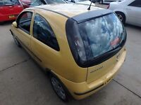 Corsa c 2005 boot lid tailgate in yellow y 40k 07584145438