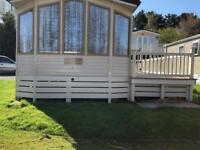 Caravan with decking in Devon