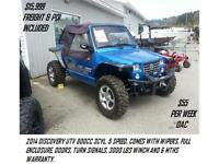 SUPER DEALS ON SIDE X SIDES COME SEE THE NEW DISCOVERY UTV'S