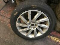 """Land Rover 19"""" Alloy wheel and Tyre"""
