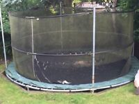 14ft Jumpking Trampoline - full functioning but requires new set and new padding