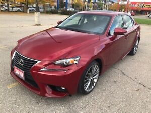 2015 Lexus IS 250 AWD|Sunroof|Navi|Leather|Back Up Cam|One Owner