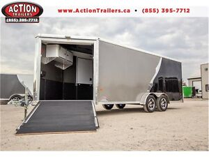 DELUXE NEO SPORT ALUMINUM 7X22' TRAILER - ONE OF A KIND TRAILER