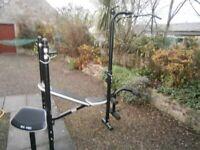 Heavy Duty bench, rack, lat pulldown, preacher, leg extension.
