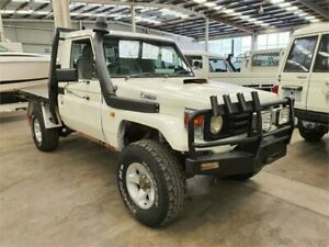 2003 Toyota Landcruiser HZJ79R (4x4) White 5 Speed Manual 4x4 Cab Chassis Lilydale Yarra Ranges Preview
