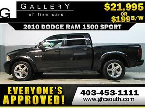2010 DODGE RAM SPORT CREW *EVERYONE APPROVED* $0 DOWN$199/BW