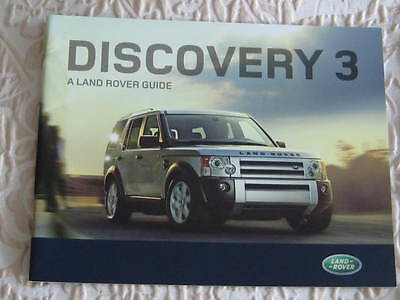 DISCOVERY 3  BROCHURE 2007 / 2008 .