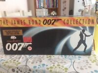 James bond collection, excellent condition including Golden Eye VHS