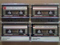 JL 4 MEMOREX MRXI S 60 & 90 PREMIUM CASSETTE TAPES. 1987-1988. JOB LOT OR SOLO MRXIS60 MRXIS90 MRXIS