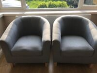 Grey Tub Chairs 2 of