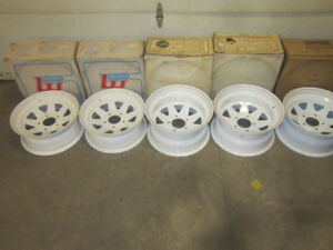 15 inch VAN NEW TRUCK car Trailer WHEELS 5 RIMS FOR $300.