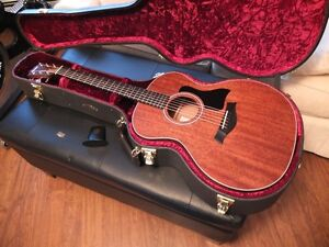 TAYLOR 324 MAHOGANY ACOUSTIC GUITAR, MINT CONDITION, WITH CASE