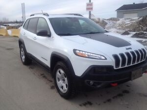 2015 Jeep Cherokee White black sticker SUV, Crossover
