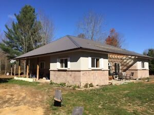 Partially finished ICF constructed home on 5 acres in Tweed
