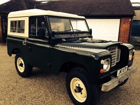 Land Rover Series 3 1975 Tax Exempt Full MOT 88inch hardtop with catflap new seats,tyres, rebuilt