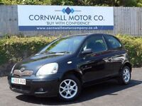 TOYOTA YARIS 1.3 COLOUR COLLECTION VVT-I 3d 86 BHP NEW MOT AND (black) 2005