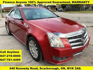 2010 Cadillac CTS Sedan FINANCE 100% APPROVED 3 YEARS WARRANTY