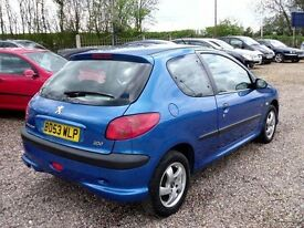 Low mileage 206 cheap tax & insurance power steering low owners long MOT £550px?any