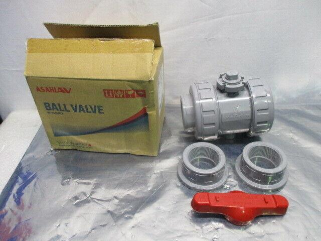 "Hayward Ball Valve Socket Connection Type 21a 2"" SOC/THD ANSI C-PVC FKM, 100064"