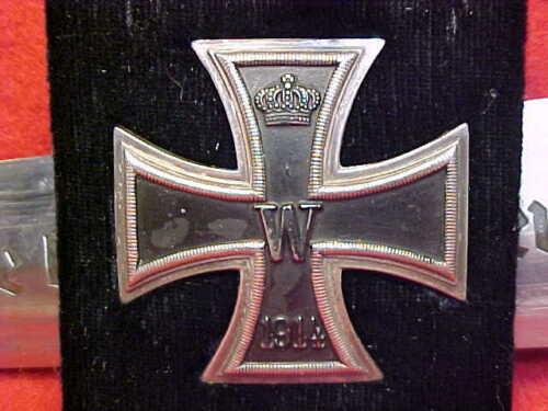 German WWI Iron Cross 1st Klass Screw Back Rare L/12 Junckers Berlin & Engraved