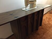 Singer Sewing Machine and Cabinet