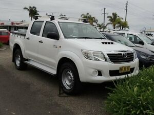 2012 Toyota Hilux KUN26R MY12 SR (4x4) White 4 Speed Automatic Dual Cab Pick-up South Nowra Nowra-Bomaderry Preview