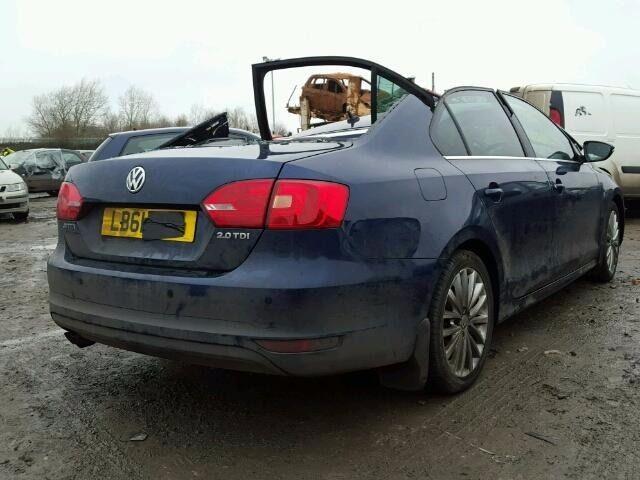 VW JETTA BOOT LID 2012 BLUE