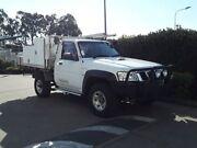 2009 Nissan Patrol GU 6 MY08 DX White 5 Speed Manual Cab Chassis Acacia Ridge Brisbane South West Preview