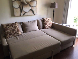 Mint condition ikea sofa bed sectional