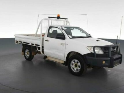 2008 Toyota Hilux KUN26R 07 Upgrade SR (4x4) Glacier White 5 Speed Manual Cab Chassis