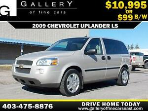2009 Chevrolet Uplander LS $99 bi-weekly APPLY NOW DRIVE NOW