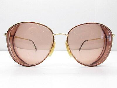 Zeiss Germany 6595 4402 Eyewear Frames 56-15-135 Gold Tortoise Round TV6 30150