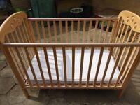 Hardwood (Beech) Baby Cot
