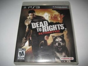 PS3) GAME DEAD to RIGHTS RETRIBUTION